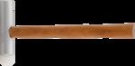 Aluminum / Plastic Hammer extra long Head 300 g - head