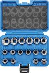 Juego de llaves de vaso 12 caras entrada 12,5 mm (1/2) 8 - 24 mm 16 piezas