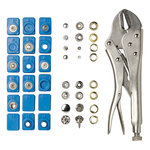 Eyelet and snap fastener assortment 275 pcs