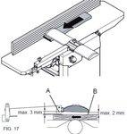 Espesador de cepillo portatil - 204mm - 2mm
