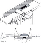Espesador de cepillo portatil 305mm - 2mm