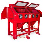 Cabina de chorro de arena de 880 litros con doble estacion de trabajo