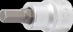 Punta de vaso entrada 20 mm (3/4) hexagono interior