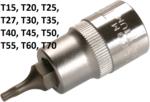 Llave de tubo con punta de 12.5 mm (1/2) Perfil en T (para Torx)