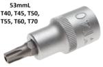 1/2 T-Star Bit Socket, a prueba de manipulaciones, T40