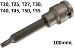 1/2 punta de vaso de impacto T-Star 100 mm de largo T20