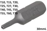 Punta entrada (5/16) perfil en T (para Torx) con perforacion