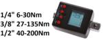 Adaptador dinamometrico digital 1/4, 6-30 Nm