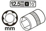 Enchufe especial de torsion, 8 mm