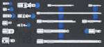Juego de extensiones, adaptadores y articulaciones 17 piezas