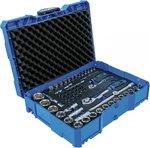 Juego de llaves de vaso 6,3 mm (1/4) / 12,5 mm (1/2) BGS systainer 65 piezas