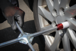 Juego de servicio de cambio de ruedas con gato de carretilla 2,5 ton 10 piezas