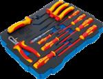 Bandeja de espuma para BGS BOXSYS1 & 2: Alicates VDE / juego de destornilladores 13 piezas