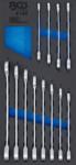 Bandeja para carro 1/3: Juego de llaves combinadas con carraca 8 - 19 mm 12 piezas