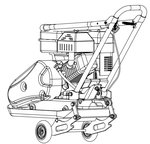 Placa vibratoria con motor de gasolina 8.2kn