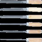 Juego de limas para llaves mango de madera 100 mm 6 piezas