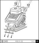 Placa vibratoria 13kn 6.5hp