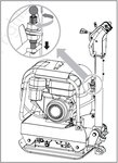 Placa vibratoria 30 kn con 9.0 hp