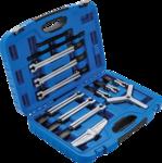 Juego de extractores interior/exterior, 2 y 3 brazos 13 piezas