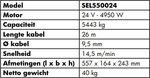 Cabrestante 24V, 5443kg 4.95kw 26m IP68