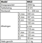 Abrazadera haz Bkl2 2 toneladas