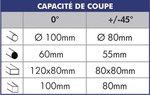 Sierra de corte transversal semiautomatica de 350 mm de diametro