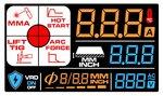 Inversor de electrodos lcd 220a 230v + accesorios