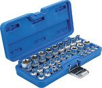 Juego de llaves de vaso E-Torx entrada 6,3 mm 1/4 / 12,5 mm (1/2) E4 - E24 28 piezas
