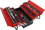 Maletin de herramientas metalico incl. surtido de herramientas 86 piezas