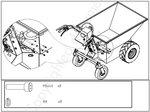 Minivolquete electrico, muelle de gas de 500 kg
