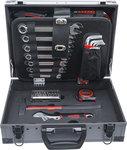 Juego de herramientas en caja de aluminio 66 piezas