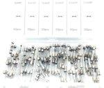 Surtido de fusibles de vidrio de soplado rapido 5 Amp- 30 Amp 120 Piezas