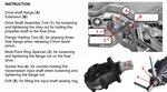 Juego de herramientas para brida del diferencial y tuerca de insercion para BMW E70, E82, E90, E91, E9