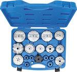 Juego de cazoletas para filtros de aceite 19 piezas