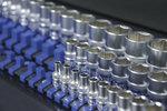 Juego de railes para insertar llaves de vaso con 80 clips para vasos de 6,3 mm (1/4), 10 mm (3/8), 12,