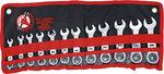 Juego 12 piezas de llaves combinadas con carraca articulada Extracortas