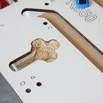 Plantilla para la fresadora del borde de conexion de la encimera