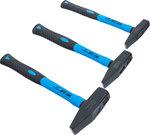 Juego de martillos de ajustador mango de fibra de vidrio DIN 1041 300 / 500 / 800g 3 piezas