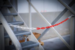 Cadena de cierre rojo- blanco plastico 5 m