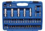 Juego de llaves de vaso perfil ondulado entrada 6,3 mm (1/4) / 12,5 mm (1/2) 95 piezas