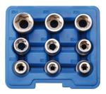 Juego de llaves de vaso E-Torx entrada 12,5 mm (1/2) E10 - E24 9 piezas