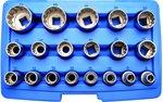 Juego de llaves de vaso Gear Lock entrada 12,5 mm (1/2) 19 piezas