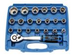 Juego de llaves de vaso 12,5 mm (1/2) SW 8 - 32 mm 27 piezas