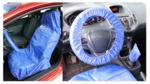 Protector de volante y asiento universal poliéster