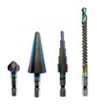 Juego de brocas variadas HSS-G recubiertas con cobalto 4 piezas