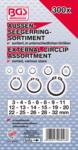 Surtido de anillos de seguridad exteriores (circlip) Ø 3 - 32 mm 300 piezas