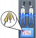 Tool Tray 1/3: Tijeras de metal, Step Drill 5 piezas