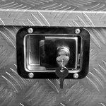 Caja de herramientas de aluminio para remolque 700/380 x 240 x 420mm