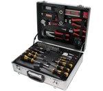 Juego de herramientas de 129 piezas en caja de aluminio
