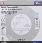 Disco de diamante corte turbo 230 mm